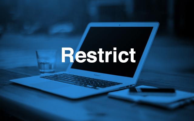 restrict